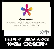 フルカラー/モノクロ印刷 91×55mm 100枚:2,500円~